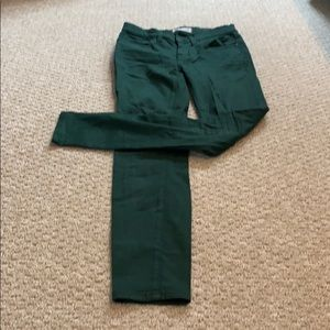 Madewell army green skinny jeans